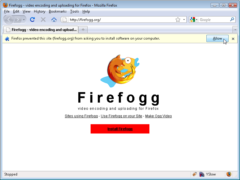 Firefogg: install software