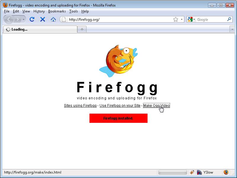 Firefogg: Make Ogg Video