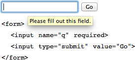 a popup appears on a required field in Firefox